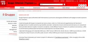 Lavora con noi Gruppo Editoriale L'Espresso