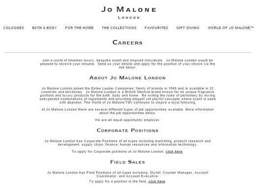 Jo Malone Lavora Con Noi
