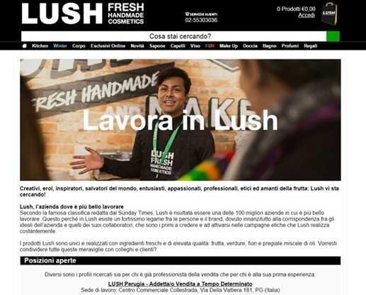 Lush Lavora Con Noi