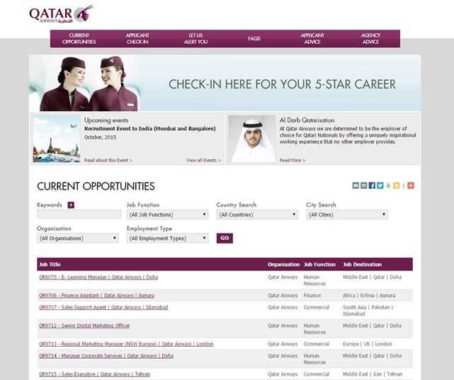 Qatar Airways Lavora Con Noi
