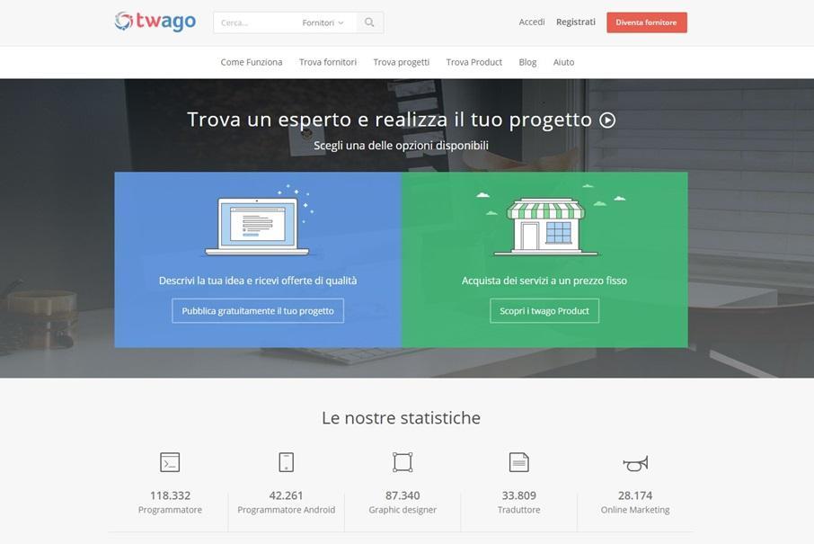 Twago network online per trovare esperti freelance e ricevere offerte di lavoro