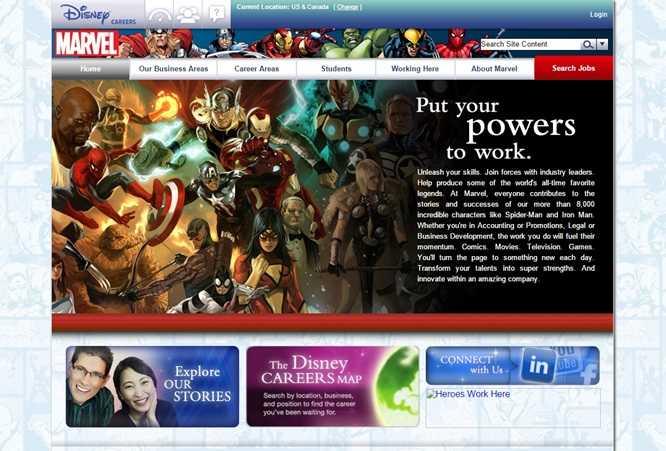 Marvel Entertainment Lavora Con Noi