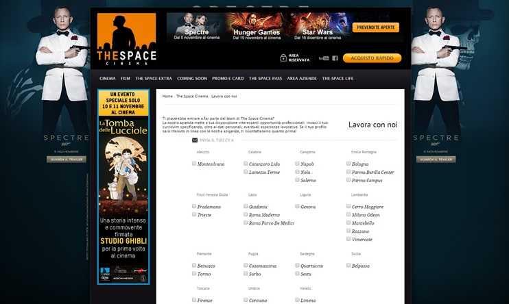 The Space Cinema Lavora Con Noi