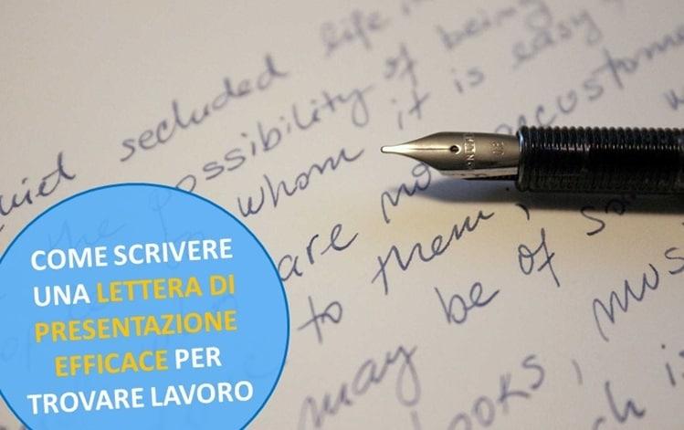 Come Scrivere una Lettera di Presentazione Efficace per Trovare Lavoro